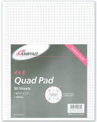 Ampad Quadrille Pad