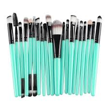 newly design 20pcs cosmetic makeup brush set tools make up toiletry kit wooden beauty brushes