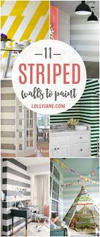 roundup 11 diy home office. DIY Roundup   11 Striped Walls To Paint Now! Such Cute Wall Accents, Roundup Diy Home Office