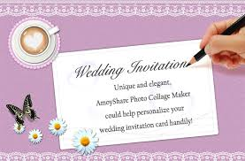 create a wedding invitation online how to create wedding invitation card amoyshare photo collage maker
