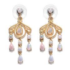 australian white opal 14k yg over sterling silver chandelier earrings tgw 2 22 cts 2952243