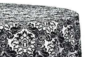 black and white table cloths