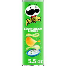 Pringles Potato Crisps Chips, Lunch Snacks, Sour Cream and Onion, 5.5oz Can  - Walmart.com