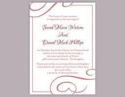 Text Invitations Diy Wedding Invitation Template Editable Text Word File Download
