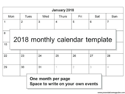 Free Calendar Template Monthly 2018 Templates For Indesign – Gocollab