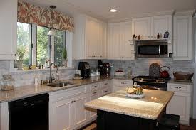 White Or Wood Kitchen Cabinets Kitchen Extraordinary Off White Kitchen With Granite Design