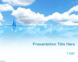 Blue Sea And Sky Powerpoint Template Free Powerpoint