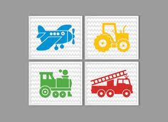 baby boy vehicle art fire truck tractor kids art boys room wall art vehicle prints printable art for kids transportation kids decor on wall art childs room with toddler boy bedroom navy gray wall art toddler room decor