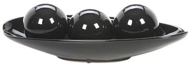 Black Decorative Balls For Bowls Amazon Hosley's Black Decorative Bowl and Orb Set Ideal GIFT 2