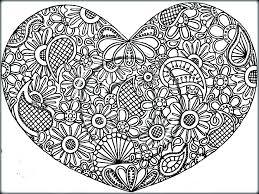 amazing heart mandala coloring pages free printable 13376
