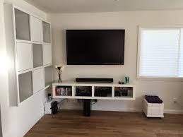 Unique Tv Stands Furniture Ikea Grey Tv Stand White Media Wall Unit Floating Tv