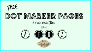It helps to develop their number recognition skills. The Activity Mom Dot Marker Pages From A To Z The Activity Mom