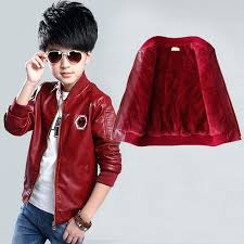child leather jackets children outfits boys for girls coat fleece lining kids autumn winter spring outwear
