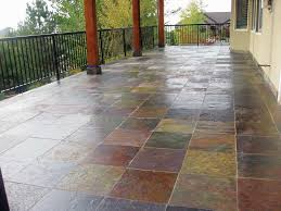 a finished tile deck with a waterproof membrane