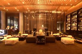 Living Room at The Residences at W Hollywood ...