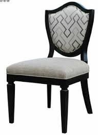 our curved shield back side chair is both chic and stylish and supremely fortable