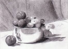 fruit bowl drawing with shading. Contemporary Drawing In Fruit Bowl Drawing With Shading
