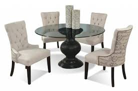 54 round glass dining table with pedestal base cmi wolf and round glass dining table set