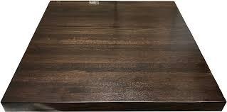 oak street manufacturing bpo48r rbwa 48 round butcher block solid wood table top w walnut finish