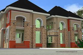 Spectacular Idea 7 Twin Duplex House Plans In Nigeria Home Design