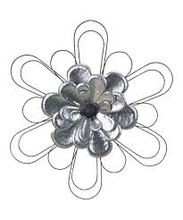 galvanized metal flower wall décor