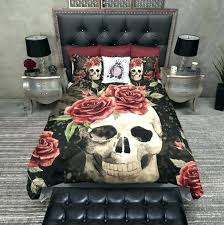 sugar skull comforter sets medium size of duvet cover set king b