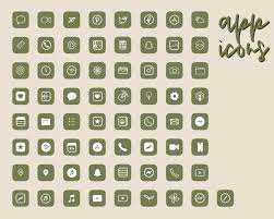 Olive Green iOS 14 App Icons ...