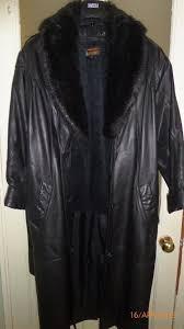 las full length leather coat