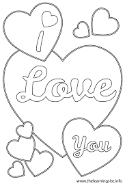 Small Picture I Love You Coloring Pages To Print Throughout glumme