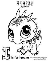 Printable Littlest Pet Shop Iguana Colouring