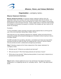 mission vision and values definition organization <company  mission statement essay mission vision and values definition 1 organization <company