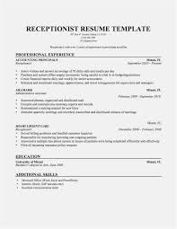 Free Collection 51 Basic Resume Template Word New Professional