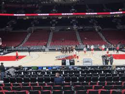 Moda Center Hockey Seating Chart Moda Center Section 101 Portland Trail Blazers
