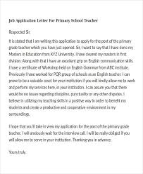 Application for School Teacher Job Free Samples Job Resume Example Job Application Letter   Writing a covering letter for a job application  can be a harrowing experience  second only to the interview itself