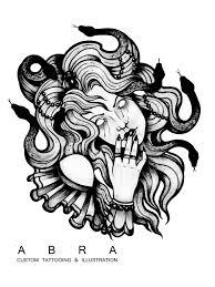 Tattoodesign Tattooidea Gorgona Tattoo Illustration Blackink