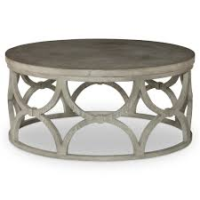 mr brown wolfgang modern slate oak round outdoor coffee table kathy kuo home