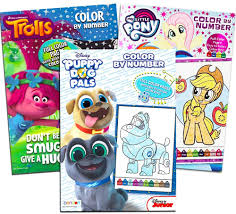 Color by number printables are so much fun! Amazon Com Color By Numbers Books For Girls Bundle Includes 3 Coloring Books Featuring My Little Pony Trolls And Puppy Dog Pals Color By Number Coloring Books For Kids Arts Crafts