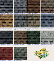 Shingle Color Chart Roof Shingles Colors Nice Roofing Materials Roofing