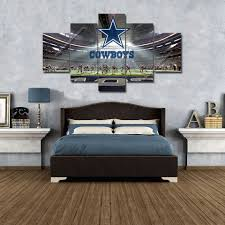 printed with aaa top quality canvas this is a wonderful gift for your friends or you might want to keep it for yourself and show it off in your living  on dallas cowboys logo wall art with dallas cowboys wall art 5 panel canvas print home decor hd stadium