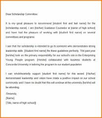 letter of recommendation for school counselor job 9 letter of recommendation scholarship from employer appeal letter