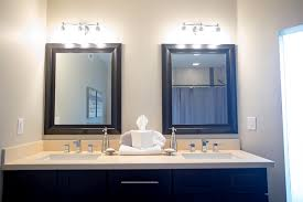 white granite bathroom countertop with his and hers washbasins and backsplash installed in chandler