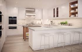 Modern Kitchen With Breakfast Bar Kitchen Island In New York Ny