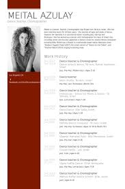 dance teacher & choreographer Resume Example