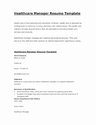 Healthcare Resume Samples Beautiful Simple Health Care Manager