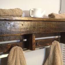 Reclaimed Wood Coat Rack Shelf Custom Handmade Reclaimed Pallet Wood Shelf Entry Organizer Coat 7