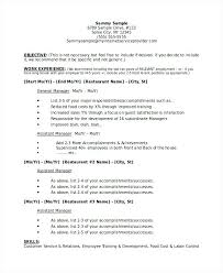 Resume Objective Restaurant Best of Restaurant Manager Resume Eukutak