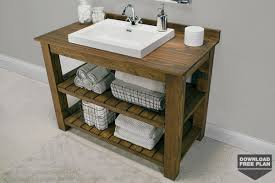 Rustic pine bathroom vanities Modern Farmhouse Bathroom Rustic Bathroom Vanity Kreg Tool Rustic Bathroom Vanity Kreg Tool Company
