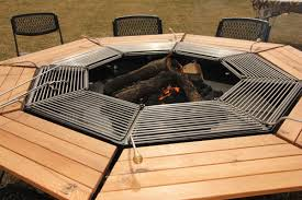 fire pit dining table. Endearing Fire Pit Dining Table For Outdoor Room Decoration : Fancy Furniture