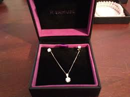 h samuel diamond necklace with earrings set