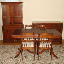 dining room chairs used. Duncan Phyfe Lyre Backing Room Chairs Harp Mahogany Table And For S Set Used Dining
